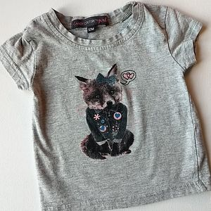 Baby Girl Fox Graphic Tee * Size 12M